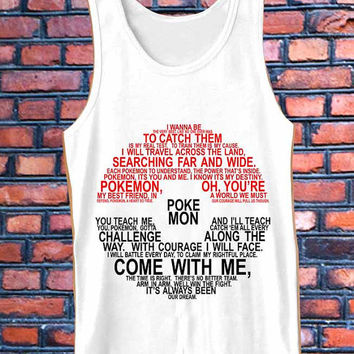 Pokemon Typography  best Tank Top Mens and Girls