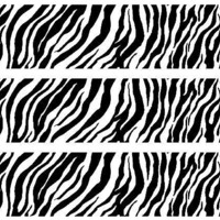 Safari Zebra Print Edible Image Cake Borders by DecoPac 3 Strips by SweetnTreats on Zibbet