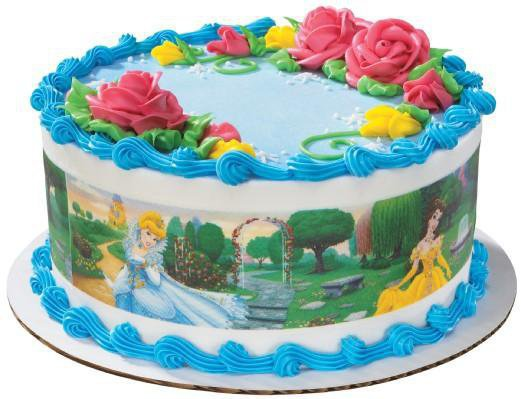 Disney Princess Edible Image Cake Borders by DecoPac 3 Strips by SweetnTreats on Zibbet
