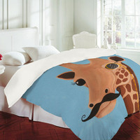 DENY Designs Home Accessories | Mandy Hazell Gentleman Giraffe Duvet Cover