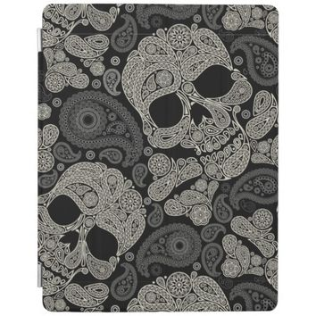 Funny Sugar Skull Pattern Apple iPad Cover