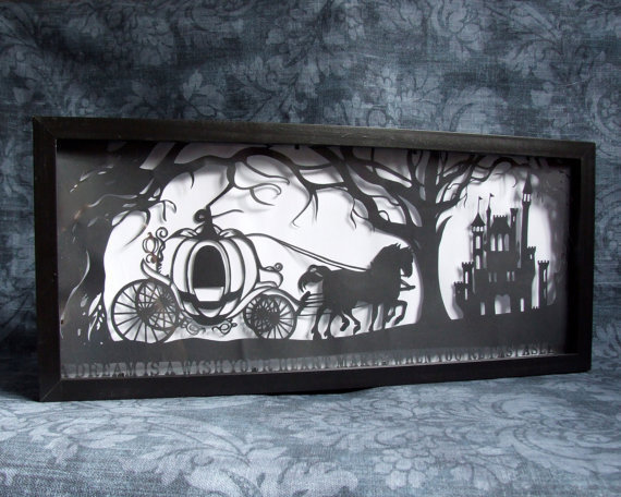 Cinderella&#x27;s Dream Original Handcut Papercut