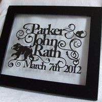 Personalised Newborn Baby Hand Cut Papercut