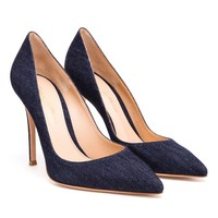 GIANVITO ROSSI | Denim Pointed Pumps | Browns fashion & designer clothes & clothing