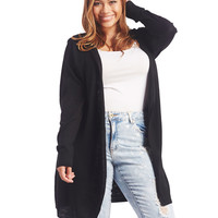 Solid Hooded Open Cardigan | Wet Seal+