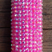 LIGHTER -- XL Pretty Iridescent Pink Bling