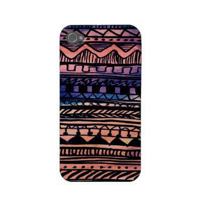 Sunset Aztec Pattern Iphone 4 Cover