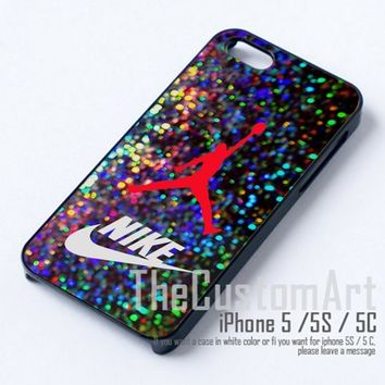 Air Jordan Logo Brand and Nike - For iPhone 5 Black Case Cover