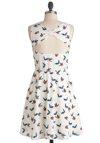 Ivory Skies Dress | Mod Retro Vintage Dresses | ModCloth.com