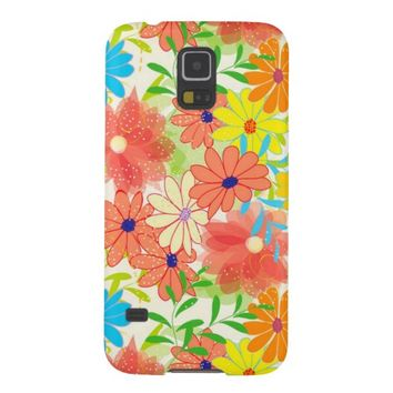 Cute Spring Floral Pattern Samsung Galaxy S5 Case