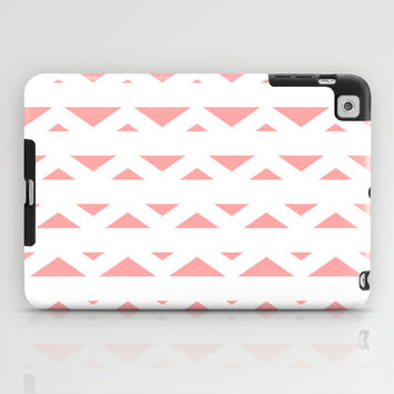 Coral Pink Tribal Triangles iPad Case by BeautifulHomes | Society6