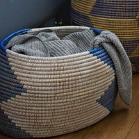Woven West African Storage Basket - VivaTerra