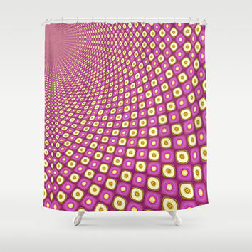 Groovy Pink Psychedelic Pattern Shower Curtain by Webgrrl | Society6