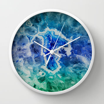 MINERAL MAZE Wall Clock by Catspaws | Society6