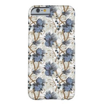 Blue Wild Flowers iPhone 6 case