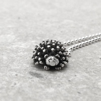 Hedgehog Necklace, Sterling Silver