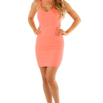 What's Done Is Done Dress: Neon Coral