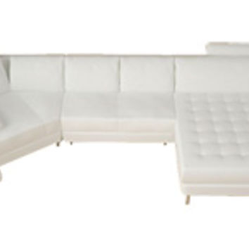 Modern Leather Sectionals - Modern Sofas - Contemporary Leather Sectionals - Opulentitems.com