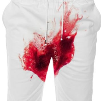 Spit Blood Heart Shape Summer Short created by Rudimencial Design | Print All Over Me