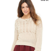 Aeropostale Cable Knit Sweater -