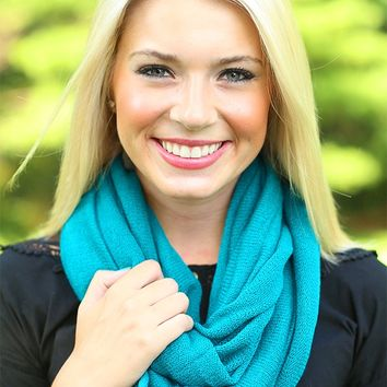 Get Cozy Infinity Scarf in Teal