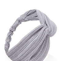 Open-Knit Knotted Headwrap