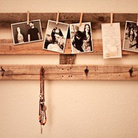 Picture hanger with hat and jewelry hangers by MJPorterDesign