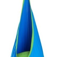 La Siesta Joki Hanging Crows Nest Soft Fabric Hammock Swing - Holds 175 pounds - 27 x 59 in - Blue:Amazon:Office Products