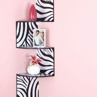 Zebra Corner Wall Shelf:Amazon:Home & Kitchen