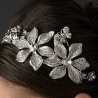 KAIYA Antique Silver Swarovski Crystals Accented by BridalBlooms