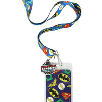 DC Comics Justice League Logos Lanyard