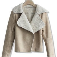 Matted Camel Shearling Jacket
