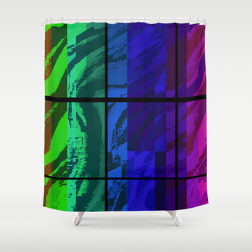 """Segments"" by Jeffrey Scott Spragg Shower Curtain by JSS Art Studio"