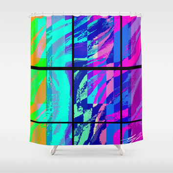 """Segments In Light"" by Jeffrey Scott Spragg Shower Curtain by JSS Art Studio"