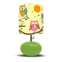Amazon.com: Oopsy Daisy Fine Art for Kids LW-OWLS-GREEN Owls on a Branch Children's Bedroom Lamp: Home & Garden