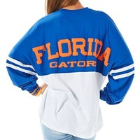 Florida Gators Juniors Team Color Sweep Sweatshirt Medium Blue