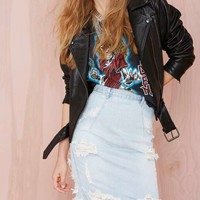 One Teaspoon Freelove Denim Skirt