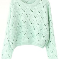 Fresh V Pattern Sweater - OASAP.com