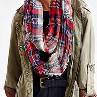 Shredded Plaid Eternity Scarf - Urban Outfitters