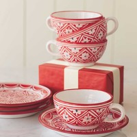 Tunisian Mugs and Plates - VivaTerra