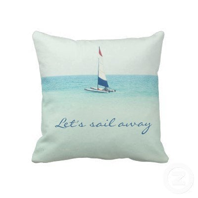Sail Away Throw Pillow from Zazzle.com