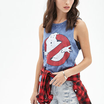 Distressed Ghostbusters Muscle Tank