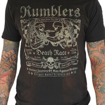 "Men's ""Rumblers"" Tee by Serpentine Clothing (Charcoal)"