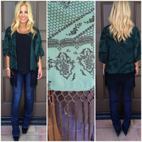 Lost In The Orient Kimono - FOREST GREEN