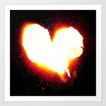 Heart of Fire Art Print by Legends of Darkness Photography