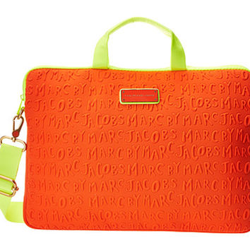 "Marc by Marc Jacobs Adults Suck Neoprene 15"" Commuter Bag Orange Glow - Zappos.com Free Shipping BOTH Ways"