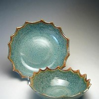 Scallop Bowls by Emily Pearlman (Ceramic Plate) | Artful Home