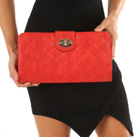 Quilted With Love Purse: Red