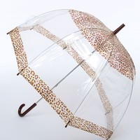 Clear & Brown Leopard Vision Umbrella
