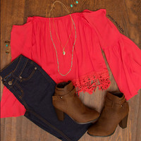 Saturday Top - Coral
